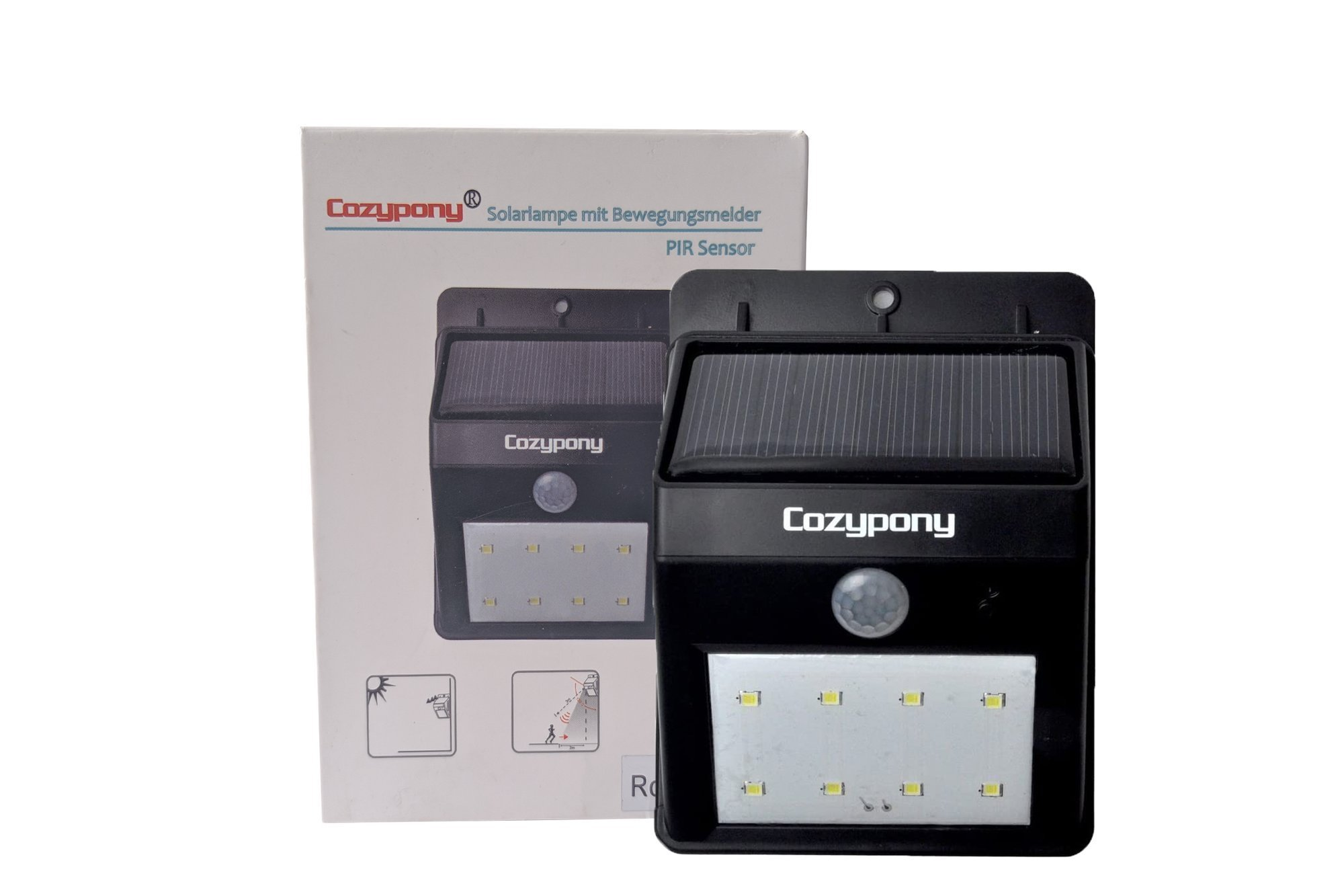 Cozypony Solar Lamp with Motion Sensor