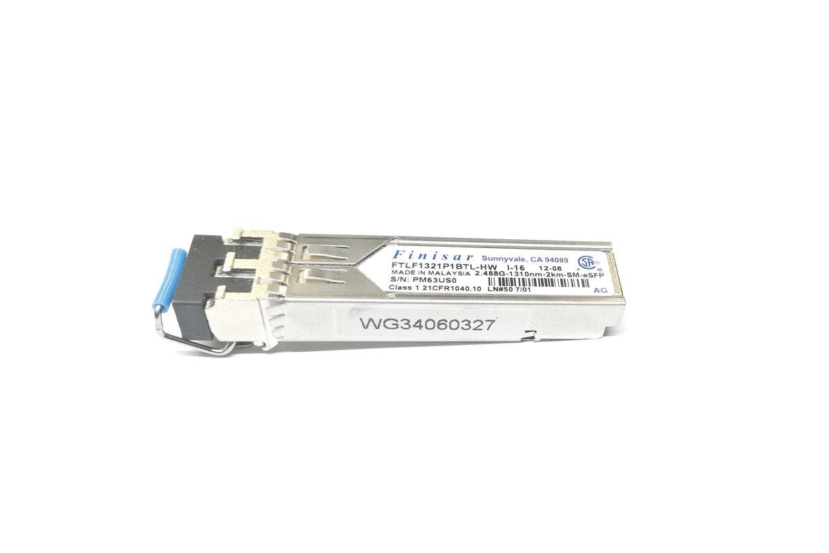 Fiber Optic Transceiver SFP Finisar FTLF1321P1BTL-HW 2.488G/1310nm/2km/5m/eSFP