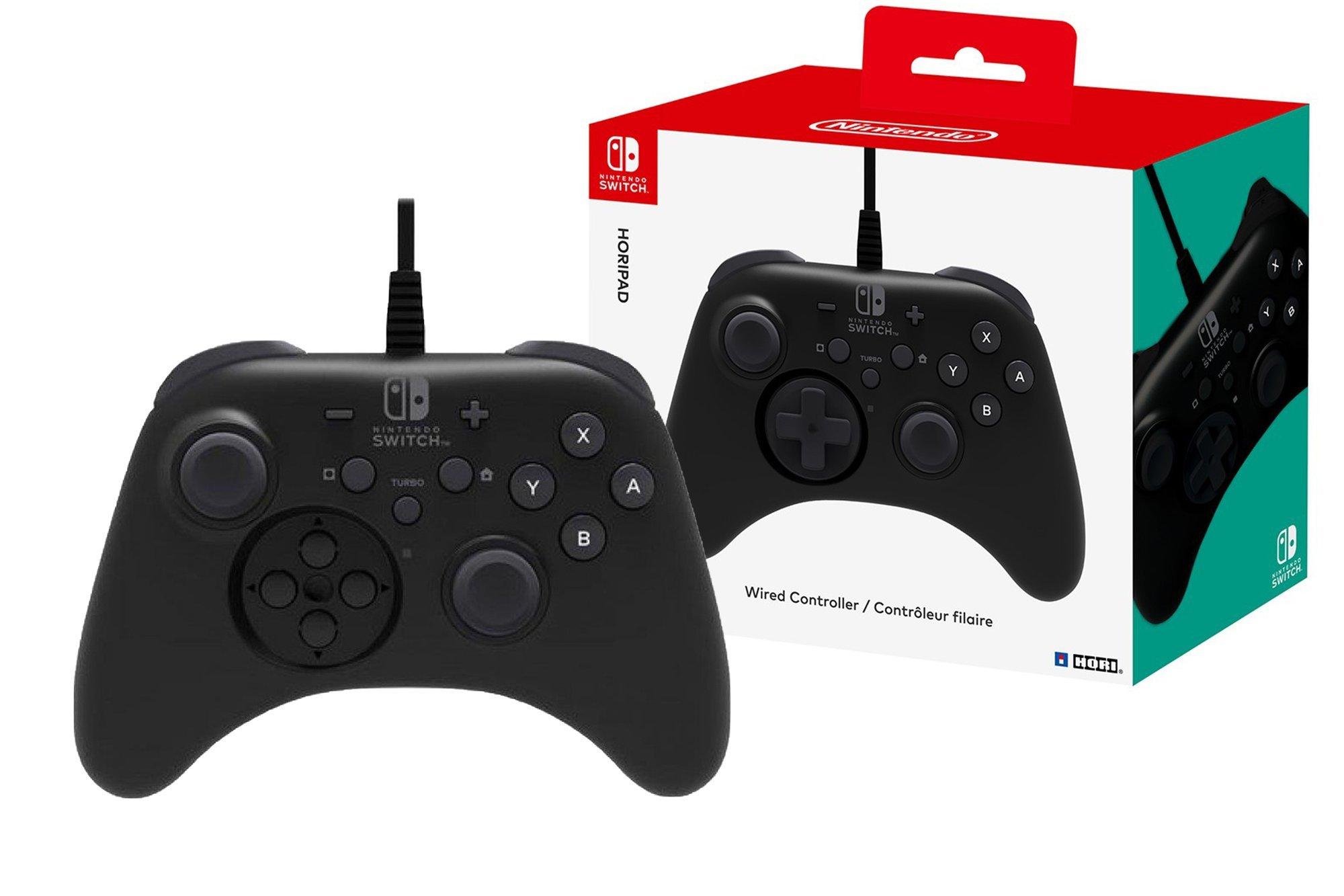Kabelgebundenes Gamepad Hori Nintendo Switch Horipad NSW-001U Schwarz