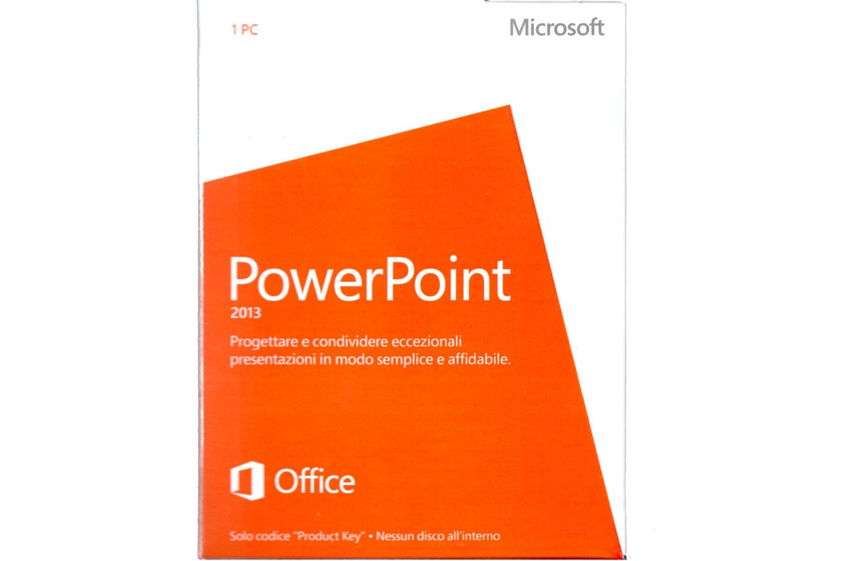 Neu OVP Microsoft Powerpoint 2013 079-05841 Italienisch Medialess Eurozone