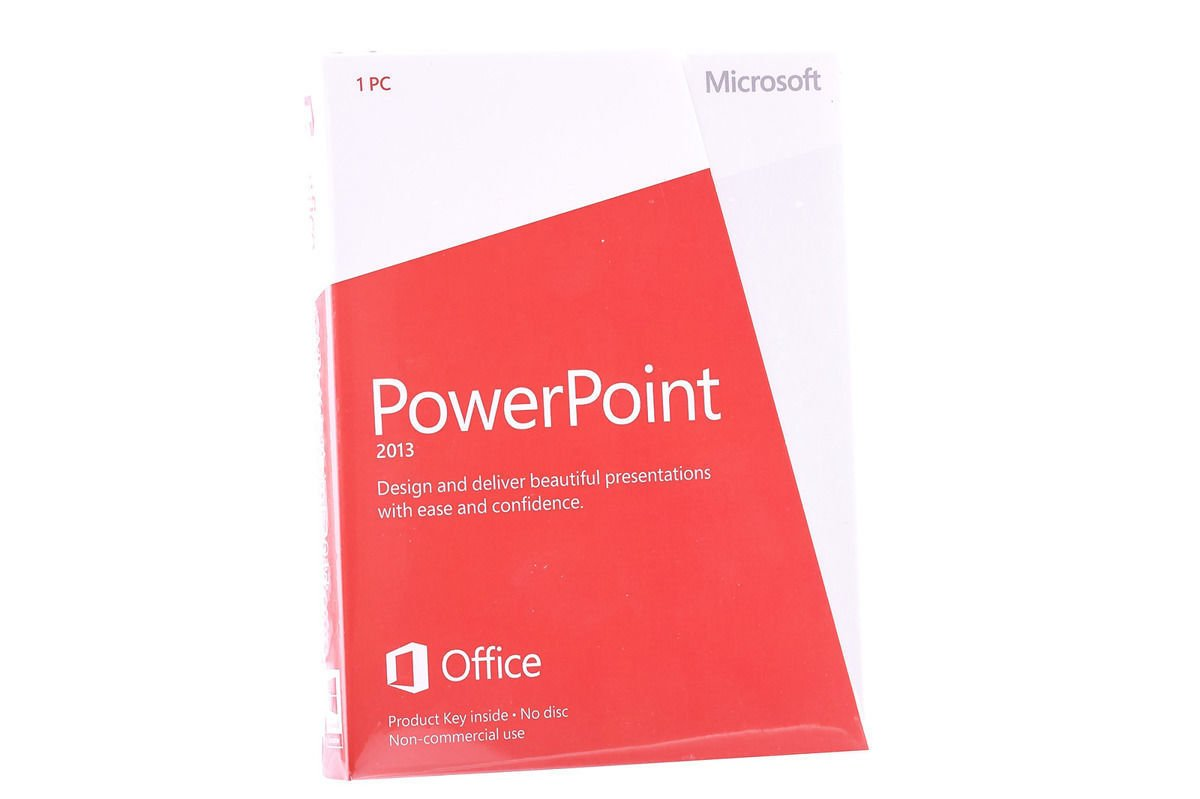 Neu OVP Microsoft Powerpoint 2013 079-05968 Medialess NonCommercial