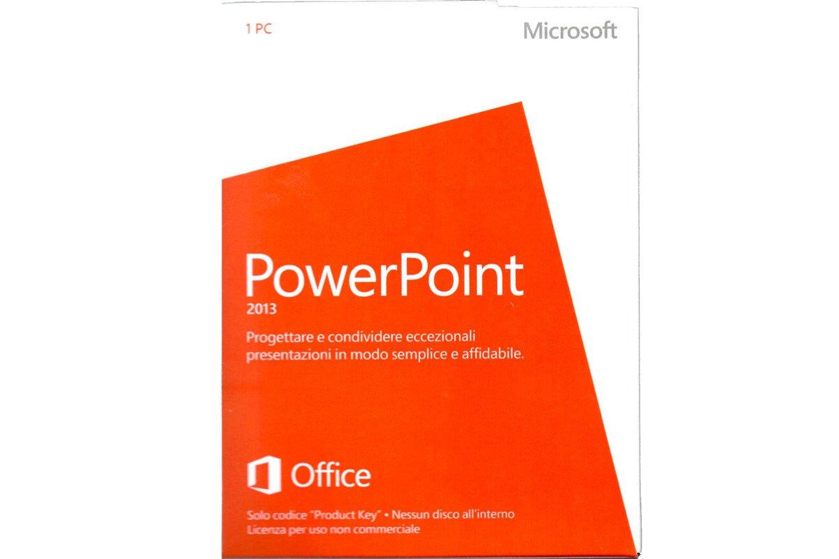 Neu OVP Microsoft Powerpoint 2013 Medialess NonCommercial 079-05944 Eurozone