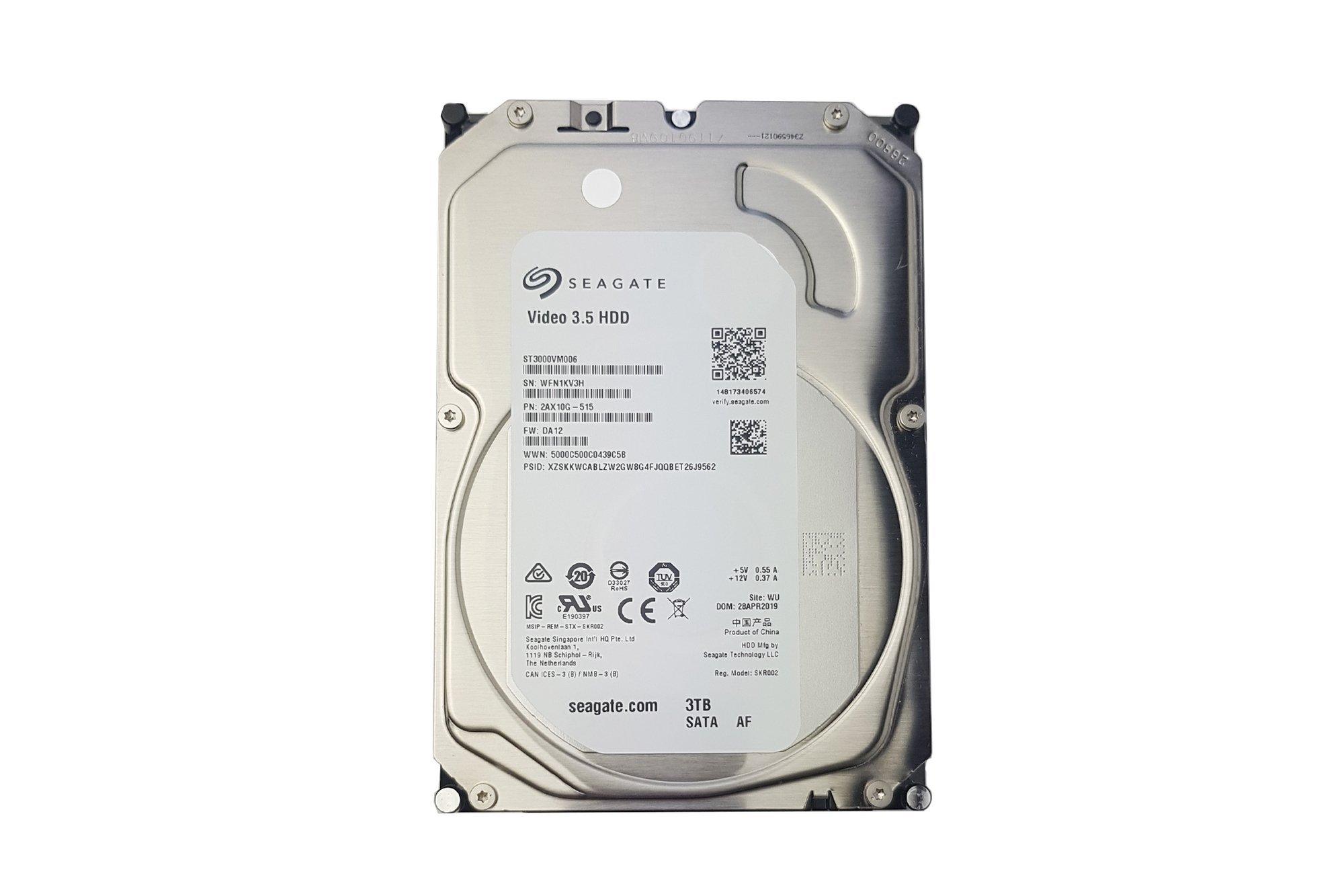 """Seagate Video 3.5 3TB ST3000VM006 Sata3 5.4K 64MB 3.5"""" HDD DVR"""