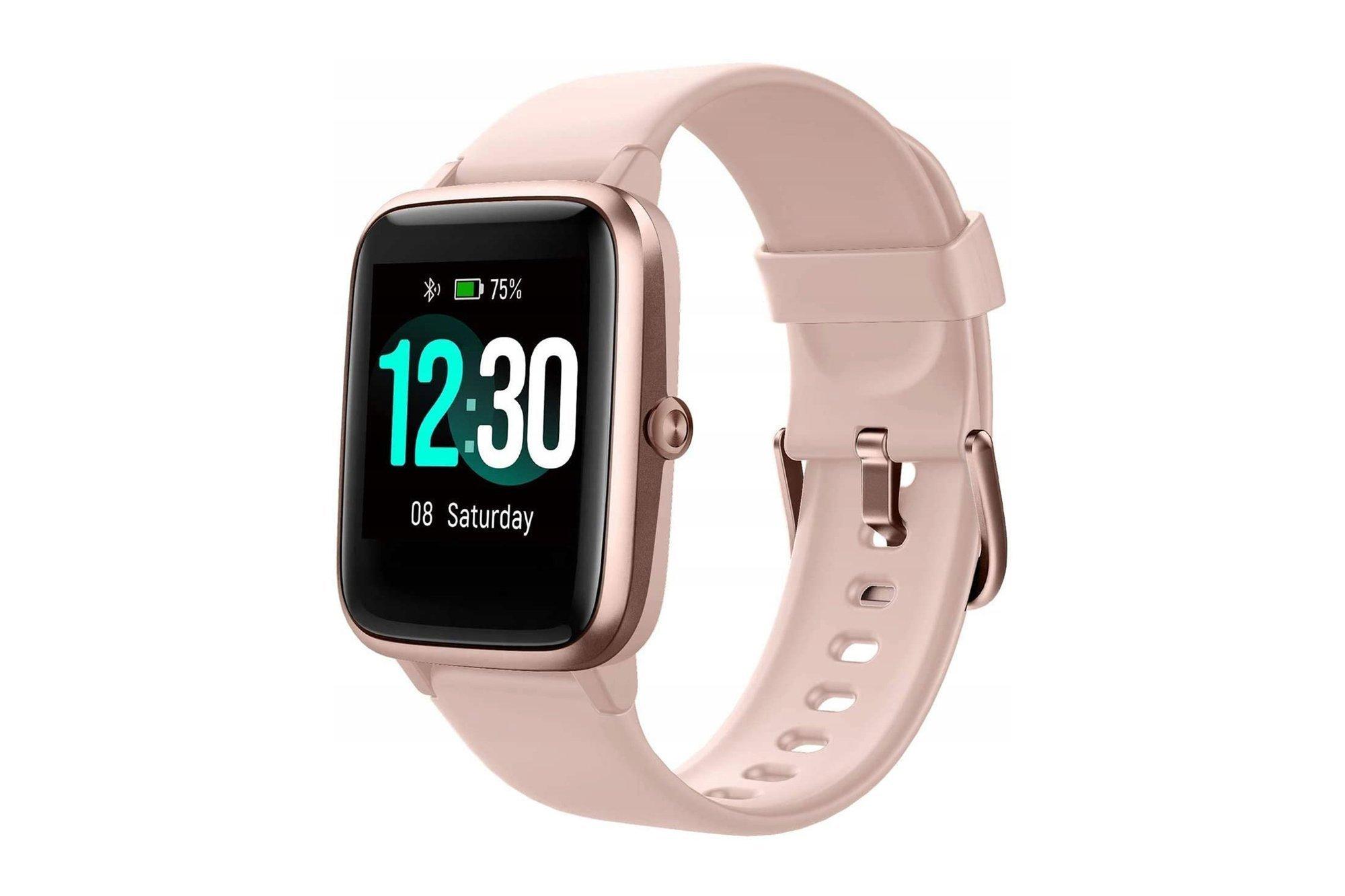 Smartwatch Letsfit ID205L Pink Gold IP68 HR