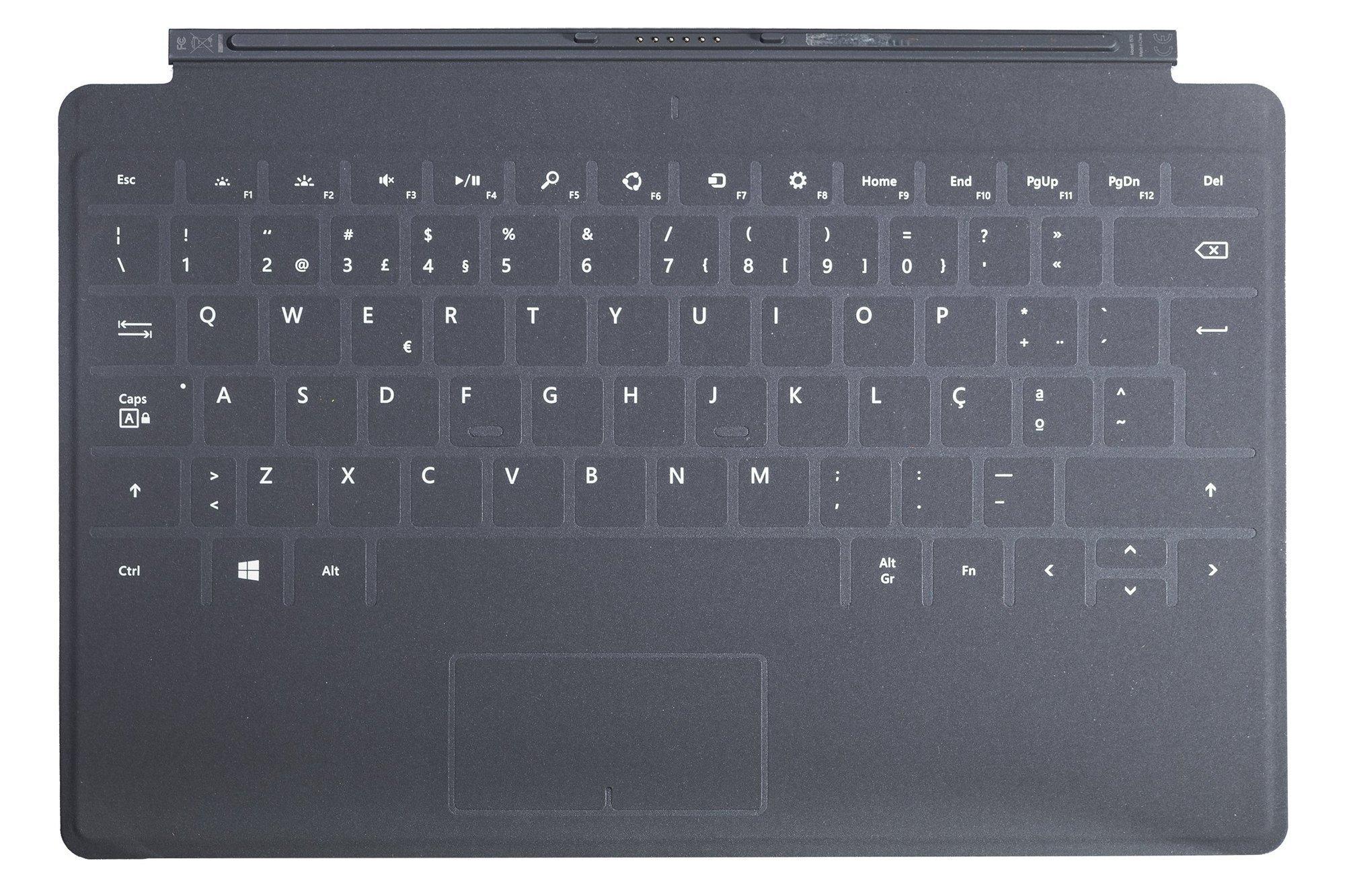 Tastatur Microsoft Surface Touch Cover 1 Schwarz QWERTY Portugiesisch Grade UND