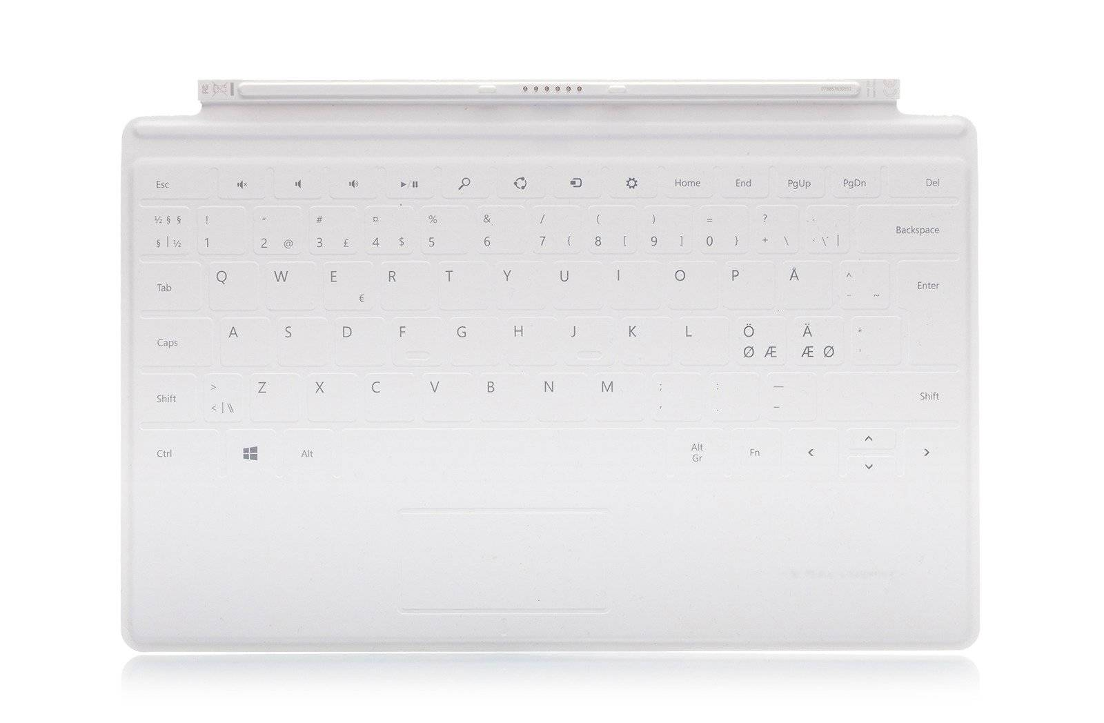Tastatur Microsoft Surface Touch Cover 1 Weiß QWERTY Nordisch Grade A