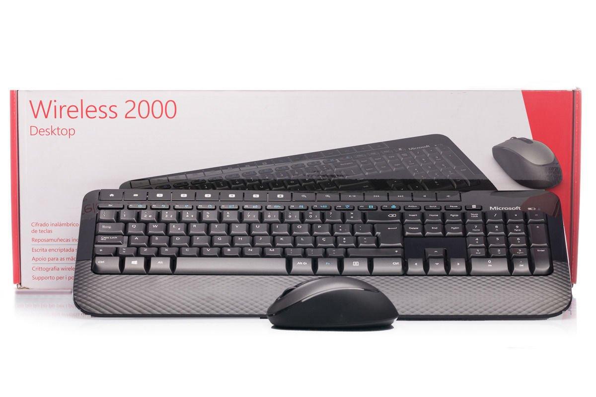 Tastatur- und Maussatz Microsoft Wireless 2000 Desktop (Portugiesisch) M7J-00007