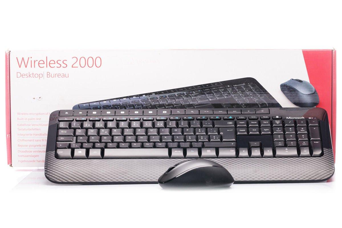 Tastatur- und Maussatz Microsoft Wireless 2000 Desktop (Schweiz) M7J-00024