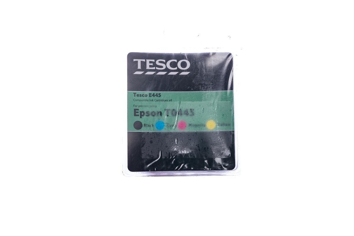 Tesco Tintenpatronen remanufactured Epson T0445 Cyan, Magenta, Gelb, Schwarz