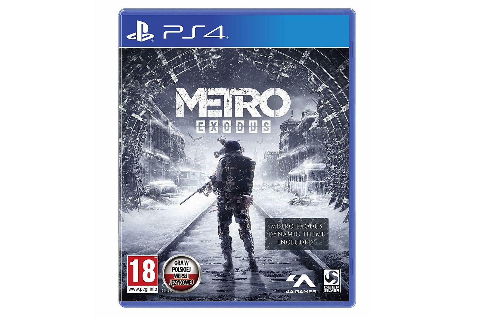 Metro Exodus Day One Edition + Dynamisches PS4 Thema Brandneu NEU OVP