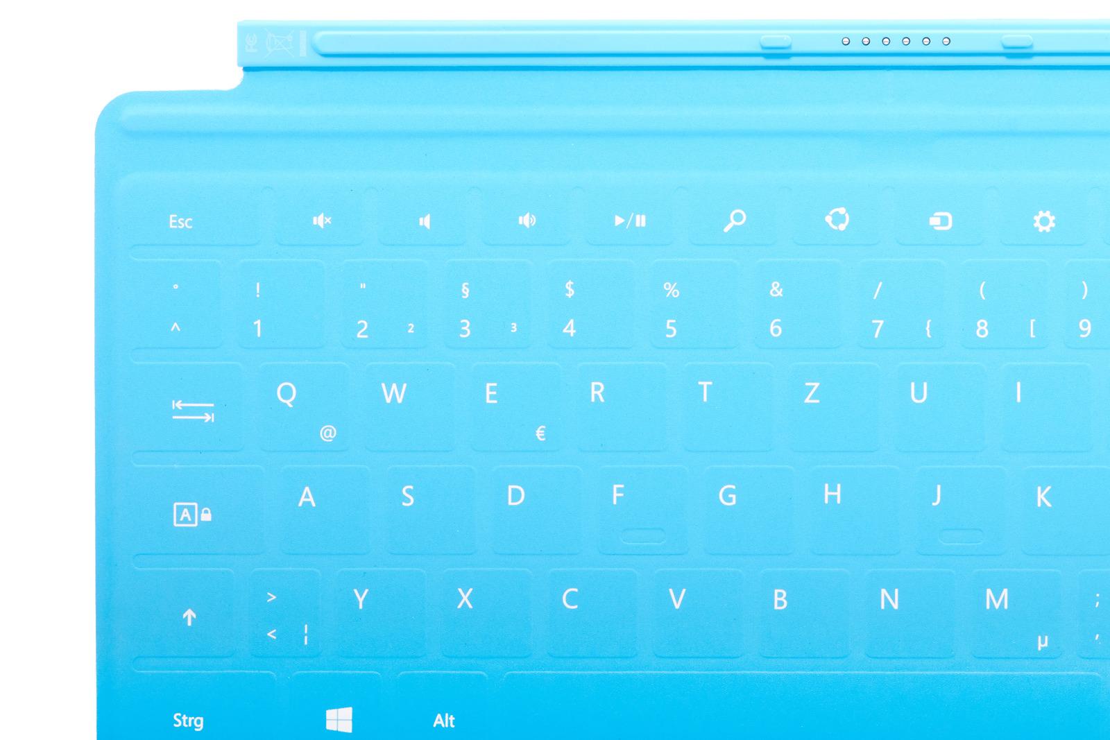 Tastatur Microsoft Surface Touch Cover 1 Hellblau AZERTY Französisch Grade A