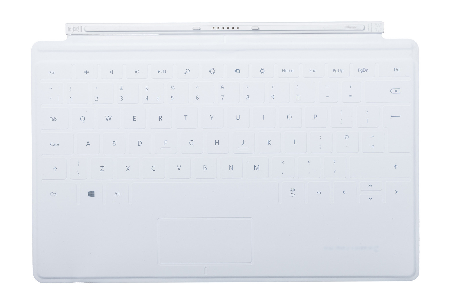Tastatur Microsoft Surface Touch Cover 1 Weiß QWERTY UK105 Grade A