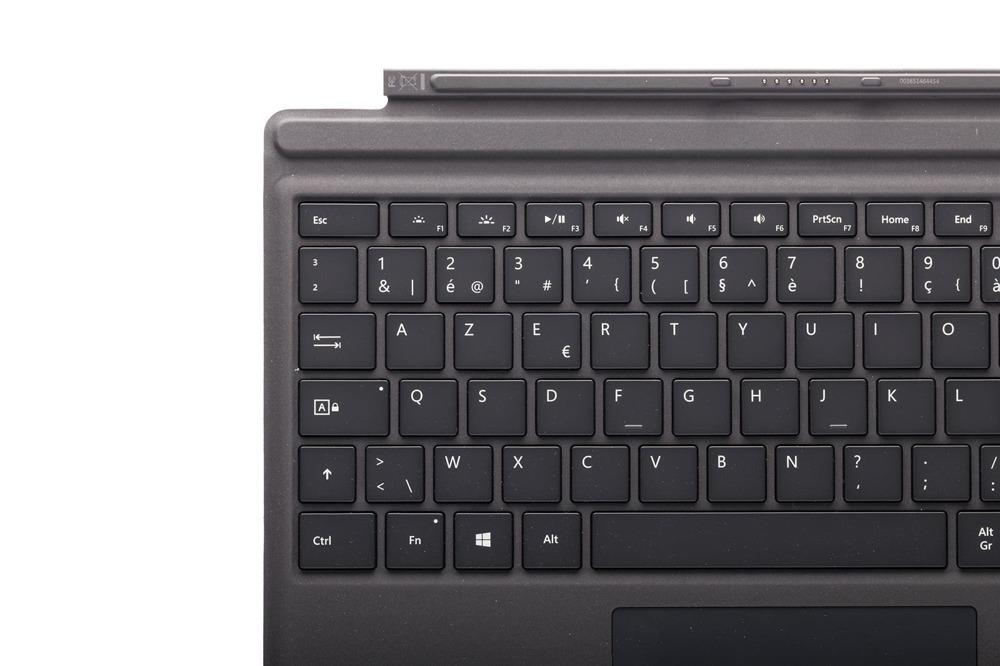 Tastatur Microsoft Surface Type Cover Pro 4 Schwarz AZERTY Belgier Grade B